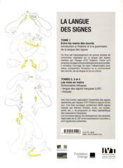 La langue des signes - tome 4 - 4ème de couverture - Format classique