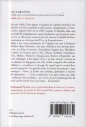 Les lorettes ; Paris capitale mondiale des plaisirs au XIXe siècle - 4ème de couverture - Format classique
