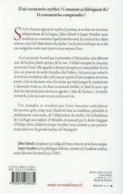 La tortue et la lyre ; dans l'atelier du mythe antique - 4ème de couverture - Format classique