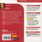 Zadig - 4ème de couverture - Format classique