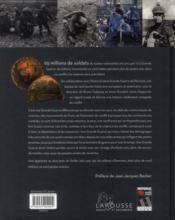 Larousse de la Grande Guerre - 4ème de couverture - Format classique