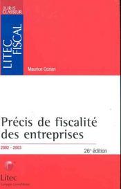 Precis de fiscalite des entreprises ; 26e edition - Intérieur - Format classique