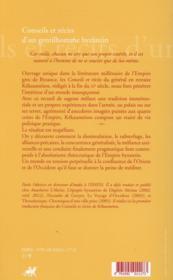 Conseils et récits d'un gentilhomme byzantin - 4ème de couverture - Format classique