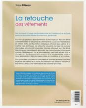 La retouche des vêtements (2e édition) - 4ème de couverture - Format classique