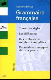Grammaire française - Couverture - Format classique