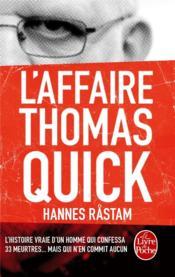 L'affaire Thomas Quick - Couverture - Format classique