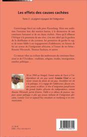 Les effets des causes cachées t.2 ; le pigeon voyageur de l'intégration - 4ème de couverture - Format classique