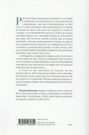 La langue mondiale ; traduction et domination - 4ème de couverture - Format classique