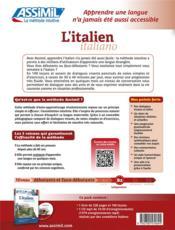 L'italien ; débutants et faux-débutants B2 - 4ème de couverture - Format classique