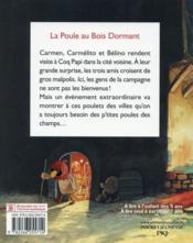 Les P'Tites Poules T.13 ; La Poule Au Bois Dormant - 4ème de couverture - Format classique