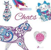 Chats : 100 dessins a colorier pour destresser - Couverture - Format classique
