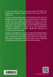 Histoire Des Xxe Et Xxie Siecles En Fiches De 1870 A Nos Jours - 4ème de couverture - Format classique