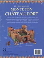 Monte ton château fort - 4ème de couverture - Format classique