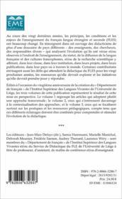 Contextualisations t.2 ; 20 ans de FLES, faits et gestes de la didactique du francais langue etrangère et seconde de 1995 à 2015 - 4ème de couverture - Format classique