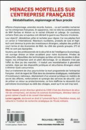 Menaces mortelles sur l'entreprise française - 4ème de couverture - Format classique
