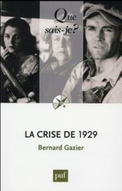 La crise de 1929 (8e édition) - Couverture - Format classique