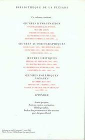 Oeuvres en prose complètes - 4ème de couverture - Format classique