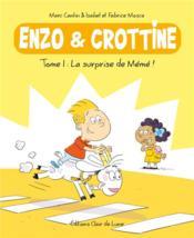 Enzo et Crottine T.1 ; la surprise de Mémé ! - Couverture - Format classique