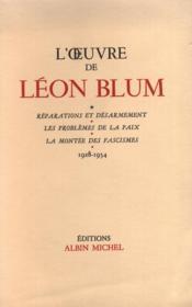 L'œuvre de Léon Blum. - Couverture - Format classique