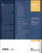 Marchand de biens ; statut juridique ; pratiques professionnelles (édition 2017/2018) - 4ème de couverture - Format classique