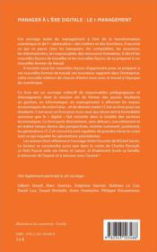Manager à l'ère digitale : le i management - 4ème de couverture - Format classique