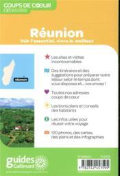 GEOguide coups de coeur ; Réunion (édition 2019) - 4ème de couverture - Format classique