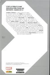Dawn of X T.1 - 4ème de couverture - Format classique