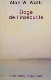 Eloge de l'insecurite n 449 - Couverture - Format classique
