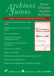 Revue Archives Juives N.41/1 - Couverture - Format classique