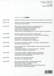 Revue Le Débat N.150 ; mai-août 2008 - 4ème de couverture - Format classique
