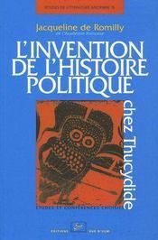 L'invention de l'histoire politique chez Thucydide - Intérieur - Format classique