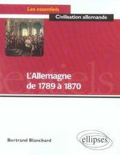 L'allemagne de 1789 a 1870 - Intérieur - Format classique