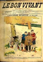 Le bon vivant n°351 - Language sportif - Couverture - Format classique