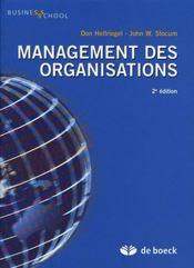 Management des organisations (2e édition) - Intérieur - Format classique