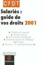 Salaries ; Guide De Vos Droits 2001 - Couverture - Format classique
