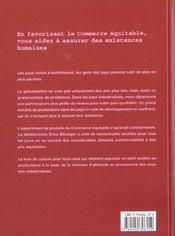 Le Livre De Cuisine Du Commerce Equitable - 4ème de couverture - Format classique