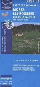 Morez ; les Rousses ; col de faucille, PNR du Haut-Jura - Couverture - Format classique