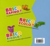 Brico rapido - 4ème de couverture - Format classique
