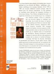 Luis Antonio de Villena ; poésie 1970-2005 ; retour, reprise, répétition - 4ème de couverture - Format classique