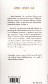 Marie-Madeleine ; la dignité recouvrée - 4ème de couverture - Format classique