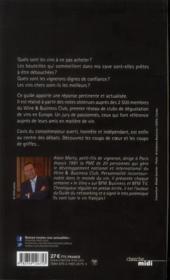 Le guide des vins du wine & business club 2013 - 4ème de couverture - Format classique