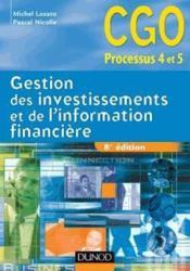 Gestion des investissements et de l'information financière ; manuel (8e édition) - Couverture - Format classique