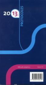 Protocoles 2013 anesthesie reanimation 12e ed - 4ème de couverture - Format classique