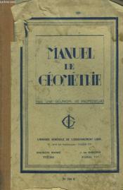 MANUEL DE GEOMETRIE. BREVET ELEMENTAIRE. 5e EDITION. - Couverture - Format classique