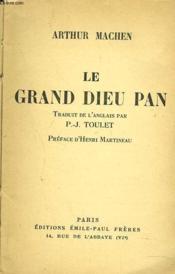 Le Grand Dieu Pan - Couverture - Format classique