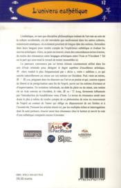 Notions esthétiques ; résonances entre les arts et les cultures - 4ème de couverture - Format classique