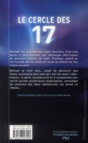 Le cercle des 17 T.1 - 4ème de couverture - Format classique