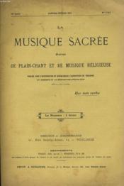 LA MUSIQUE SACREE N°1 ET 2 - 16ème année - Couverture - Format classique