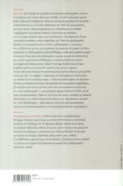 Le meilleur ou le vrai spinoza et l'idee de philosophie - 4ème de couverture - Format classique