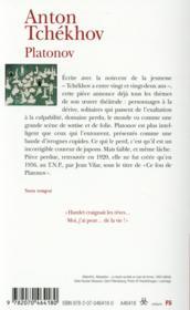 Platonov - 4ème de couverture - Format classique